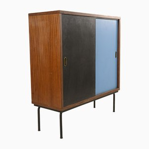 Italian Blue and Black Cabinet, 1960s