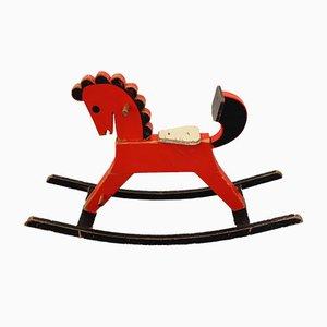 Mid-Century Wooden Rocking Horse
