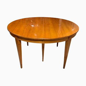 19th Century Biedermeier German Cherrywood Extendable Dining Table