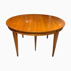 Tavolo da pranzo Biedermeier in legno di ciliegio, Germania, XIX secolo