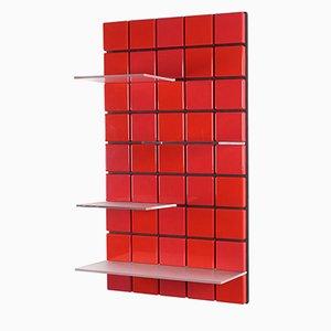 Unità di mensole Confetti rosso vermilio di Per Bäckström per Pellington Design