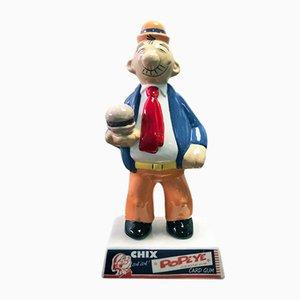 Italienische Vintage Popeye Keramikfigur von Nova Ceramiche