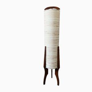 Lampada da terra Mid-Century tripode in teak, anni '60