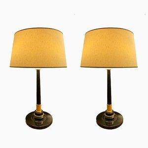 Lámparas de mesa Elysee francesas de Jumo, años 60. Juego de 2