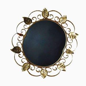 Vintage French Gold Metal Mirror