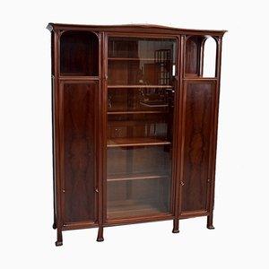 Art Nouveau Solid Mahogany Cabinet, 1900s