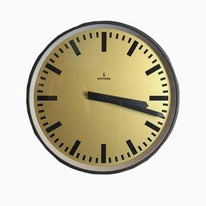 Reloj de fábrica alemán de Siemens, años 60