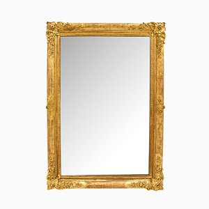 Antique Golden Square Mirror