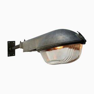 Graue Mid-Century Wandlampe