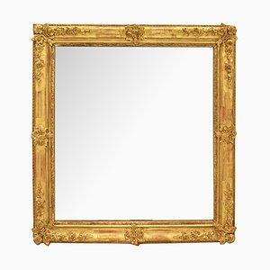 Espejo antiguo pequeño cuadrado dorado