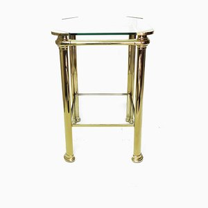 Vintage Italian Brass Side Table from Mara