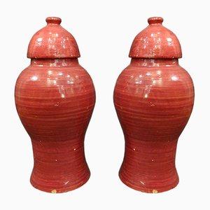 Vases, Inde, 19ème Siècle, Set de 2