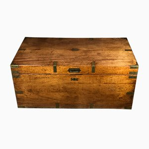 19th Century Camphor Wood Chest by J Turner