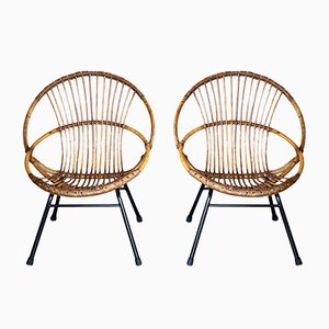 Mid-Century Wicker Chair, 1950s, Set of 2