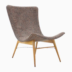 Mid-Century Lounge Chair by Miroslav Navratil for Interier Praha, 1960s