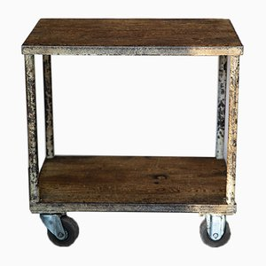 Vintage Industrial Side Table, 1940s