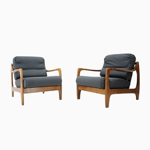 Mid-Century Danish Armchairs, 1960s, Set of 2