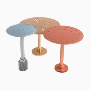 Tavoli Maseen A-X in metallo color ottone di Samer Alameen per JCP Universe, set di 3