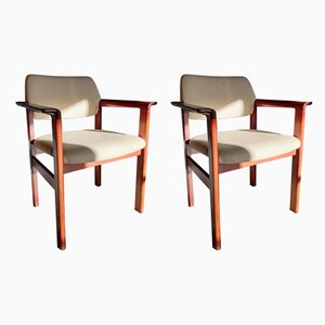 Mid-Century Rosewood Armchairs by Arne Vodder for Sibast, Set of 2