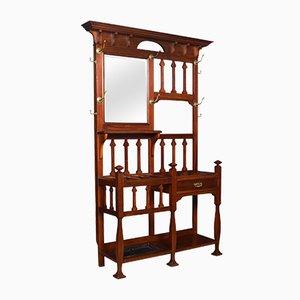 Mueble de recibidor antiguo de nogal