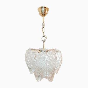 Lampada da soffitto in vetro di Murano di Mazzega, anni '70