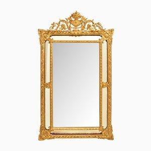 Spiegel mit goldenem Rahmen, 19. Jh.