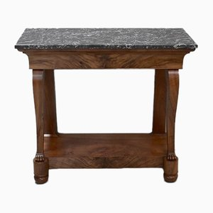 Antique Blond Walnut Console Table, 1820s
