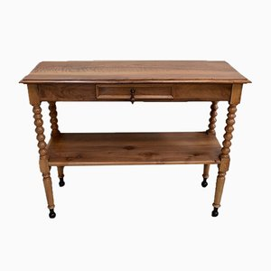 19th Century Louis Philippe Solid Blond Walnut Trolley