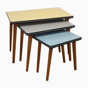 Tables d'Appoint Vintage Colorées, Set de 3