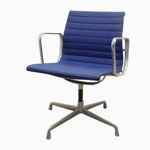 Silla de oficina EA 108 en azul de Charles & Ray Eames, años 60