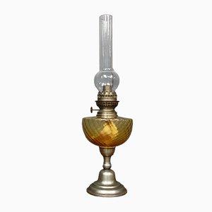 Lampe à Huile d'Époque, France, années 1900