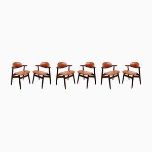 Vintage Dutch Dining Chairs from Tijsseling Nijkerk, 1950s, Set of 6