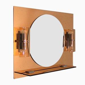 Großer Spiegel mit Ablage von Veca, 1970er