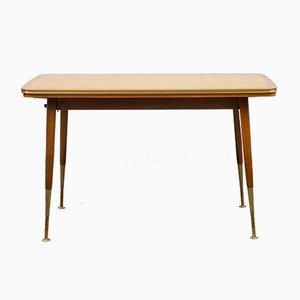 Tavolo da pranzo Mid-Century regolabile e allungabile, anni '50