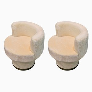 Vintage Plush Armchairs, Set of 2