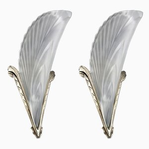 Art Deco French Sconces, 1920s, Set of 2