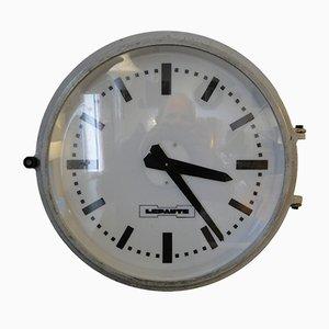 Reloj de estación vintage de Lepaute, años 60