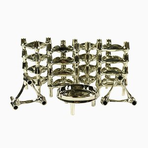 Vintage Chrome Modular Candleholder from BMF, 1970s