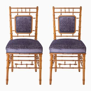19th Century Cherrywood Dining Chairs, Set of 2