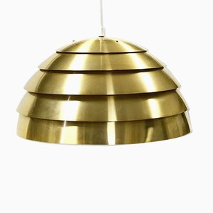 Mid-Century Swedish Brass Model T325 / 450 Ceiling Lamp by Hans-Agne Jakobsson for Hans-Agne Jakobsson AB Markaryd