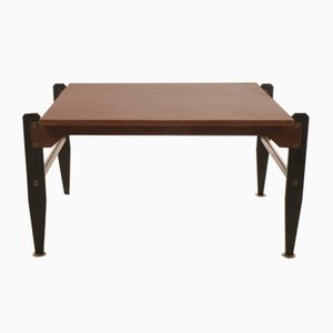 Vintage Italian Wood and Metal Coffee Table, 1960s