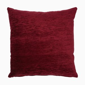 17th Century Modern Skull Red Cushion With Red Fringing