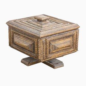 Caja de arte antigua de madera