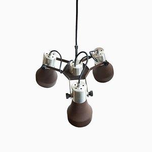 Lámpara colgante triple Mid-Century, años 70