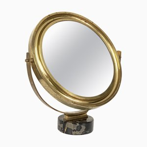 Runder italienischer Mid-Century Modell Narciso Spiegel von Sergio Mazza für Artemide, 1960er