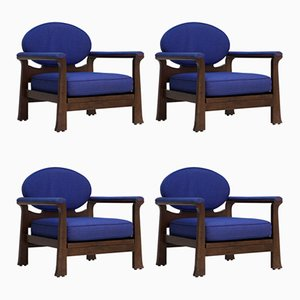 Osaka Armchairs by Emiel Veranneman for De Coene, 1968, Set of 4