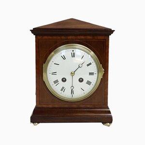 Antique French Mahogany Mantel Clock, 1890s