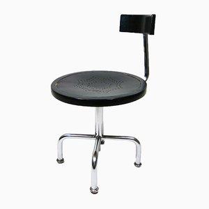Chaise d'Architecte Ajustable Vintage en Acier Tubulaire