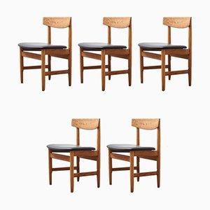 Mid-Century Oresund Dining Chairs by Børge Mogensen for Karl Andersson & Söner, 1950s, Set of 5