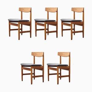 Sedie da pranzo Oresund Mid-Century di Børge Mogensen per Karl Andersson & Söner, anni '50, set di 5